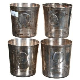"(4) 3.25"" Sterling Silver Tumblers"