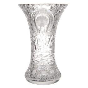 "13.75"" X 8.5"" American Brilliant Cut Glass Vase"