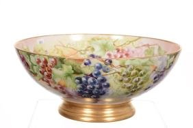"6.5"" X 15.5"" Limoges (Marked T&V) Hand Painted Punch Bo"