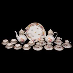 Dresden Demitasse and Chocolate Set - Forty-Seven Piece