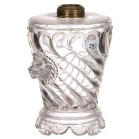 """8"""" Flint Glass Kerosene Lamp Base"""