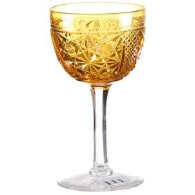 """Wine Glass - 5"""" - ABCGSolid Amber/Gold Bowl with"""