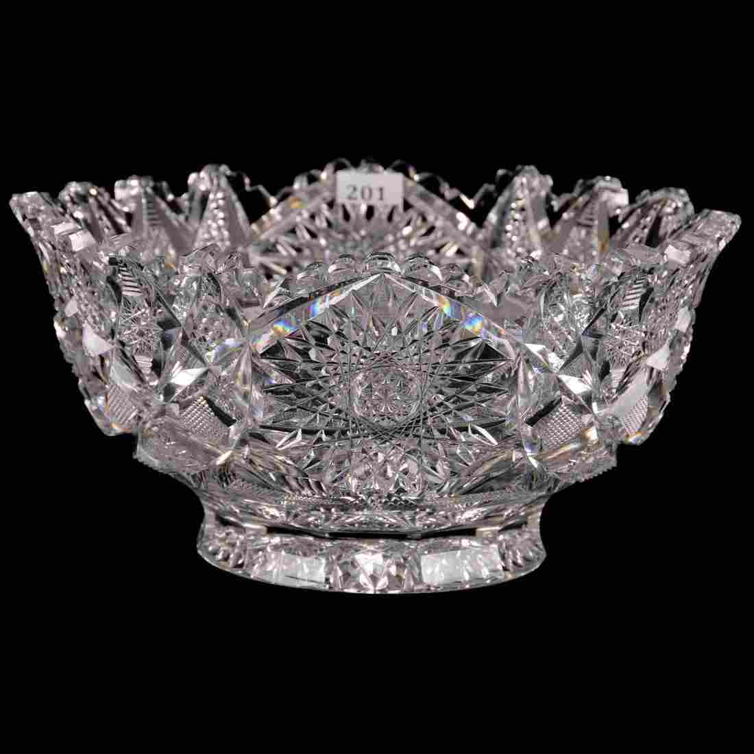 "Footed Bowl - 5"" X 10.5"" - ABCGHobstar, Nailhead"