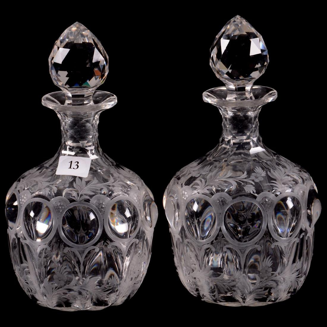Pair ABCG Cologne Bottles - Signed Hawkes