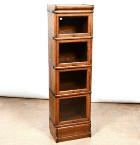 Oak Four Section Stack Bookcase