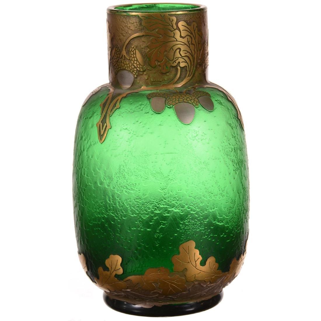 Marked Mt. Joye Art Glass Vase