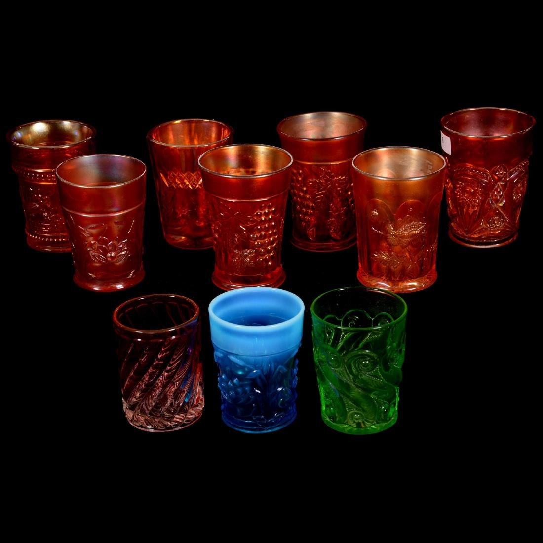 Ten Tumblers Including