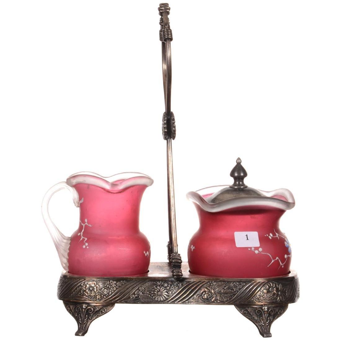 Victorian Creamer and Sugar Set - 2