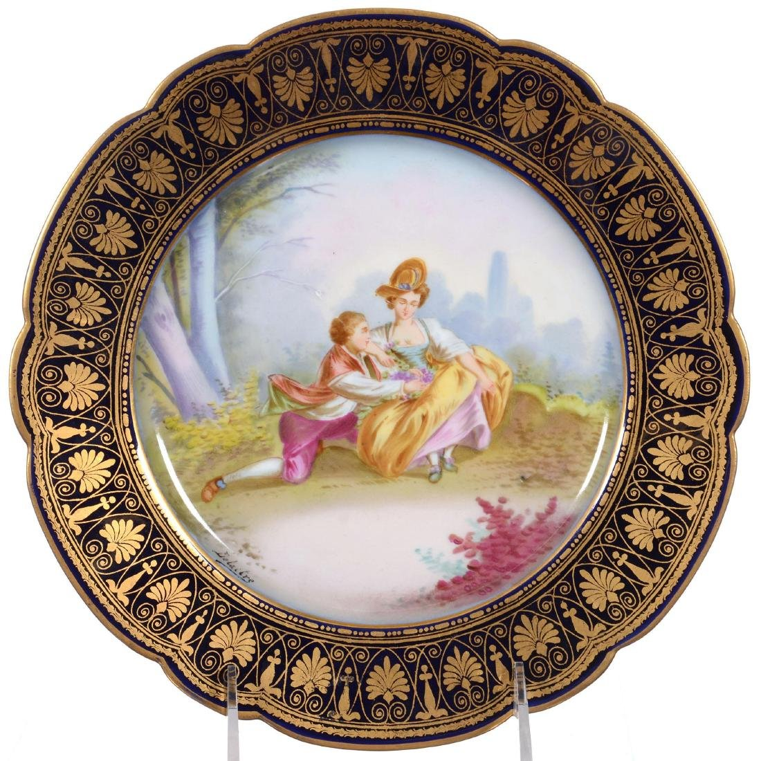 Marked Sevres Scenic Plate