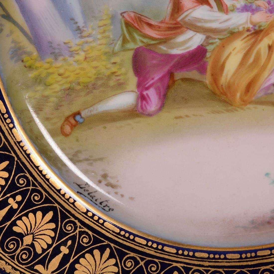 Marked Sevres Scenic Plate - 2