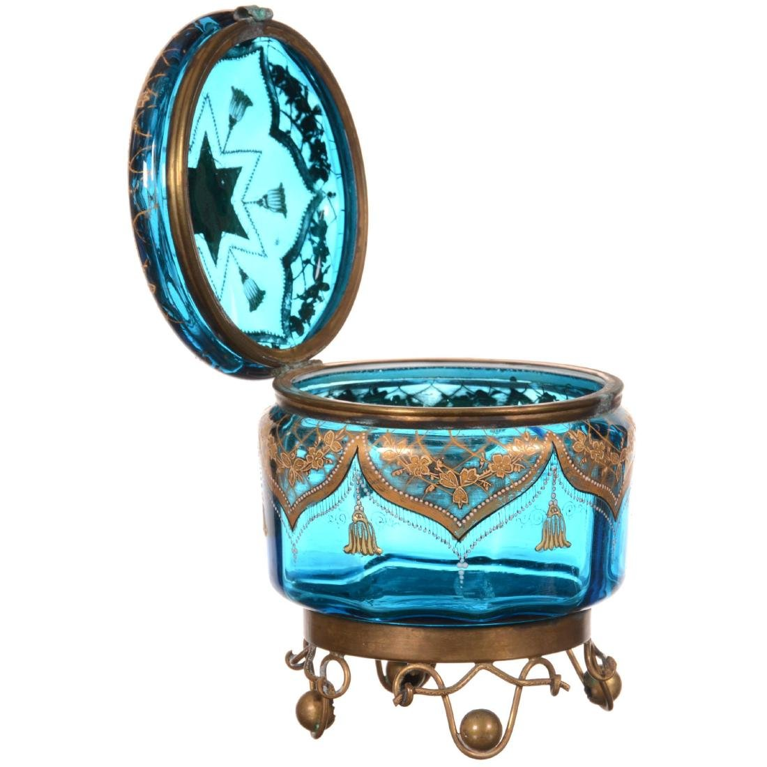 Art Glass Round Hinged Box - 2