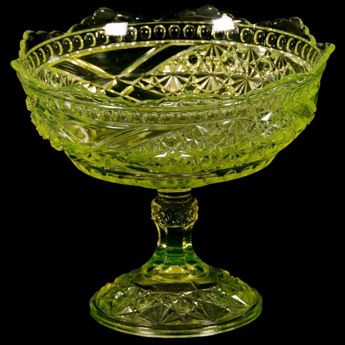 Antique Vaseline Compote