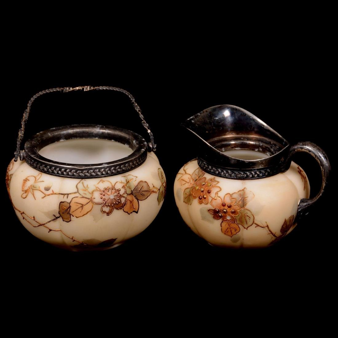 Marked Smith Brothers Creamer and Sugar