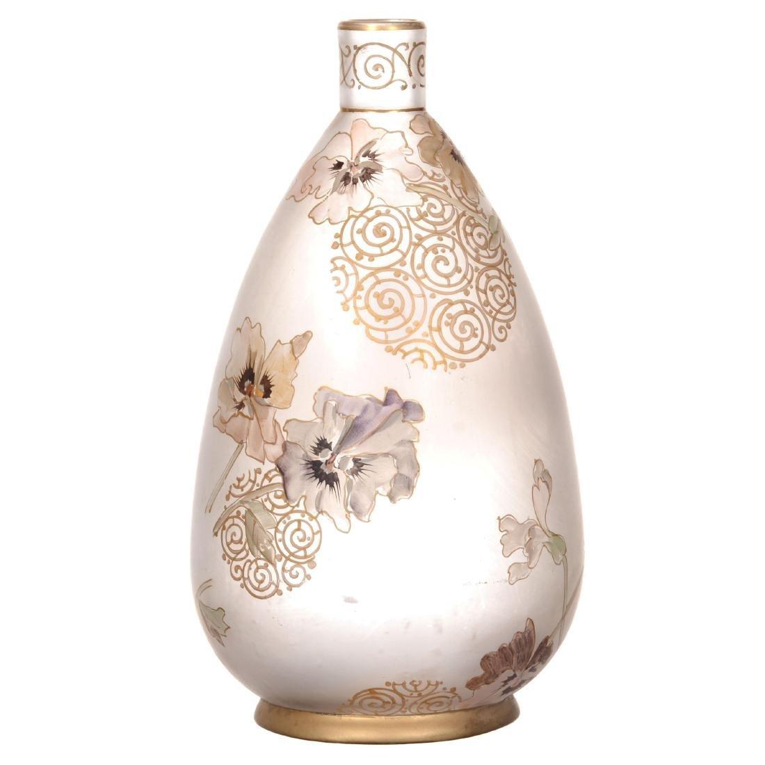 Marked Royal Flemish Art Glass Vase