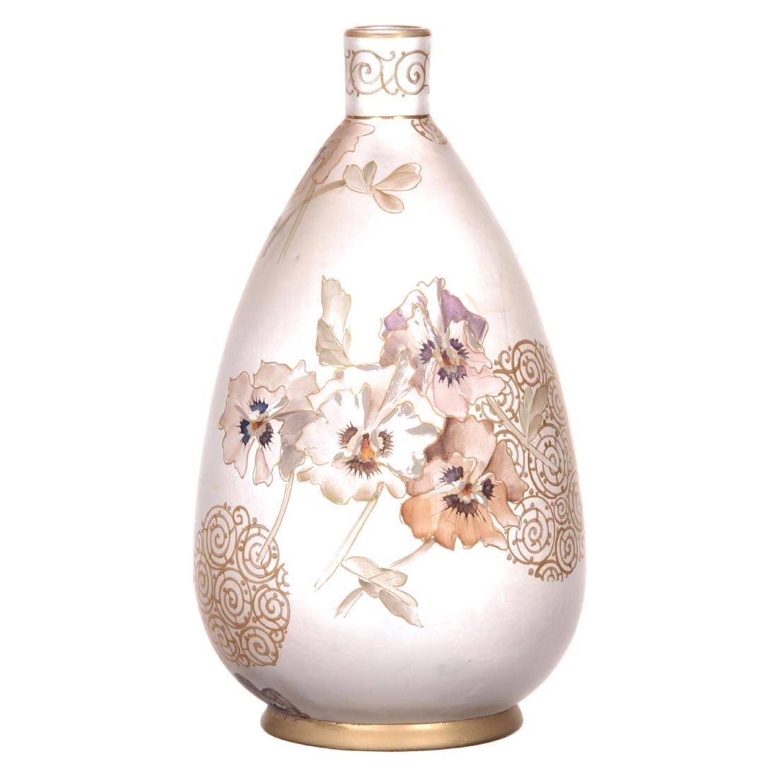 Marked Royal Flemish Art Glass Vase - 2