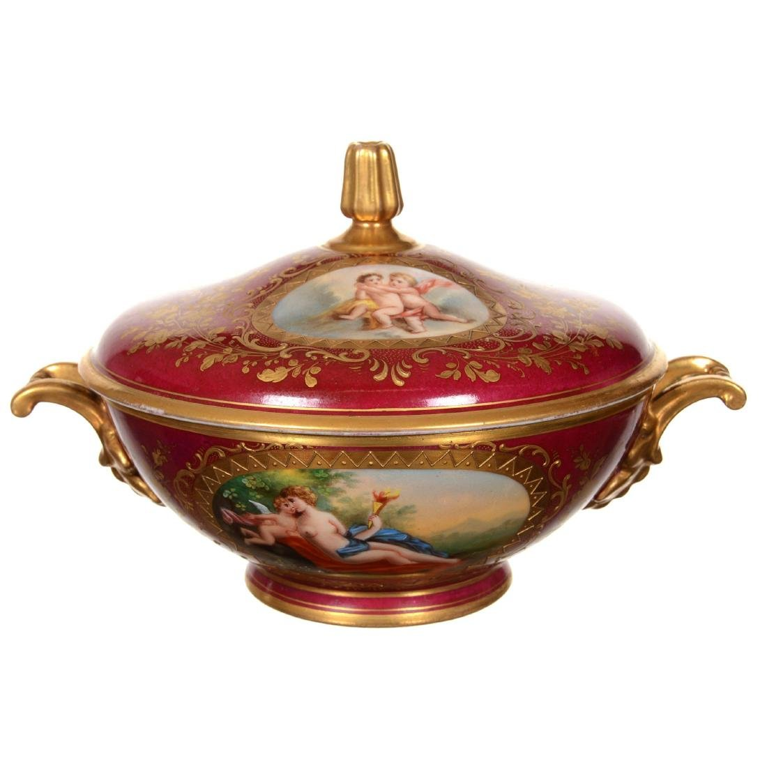 Marked Beehive Covered Two-Handled Bowl - 2