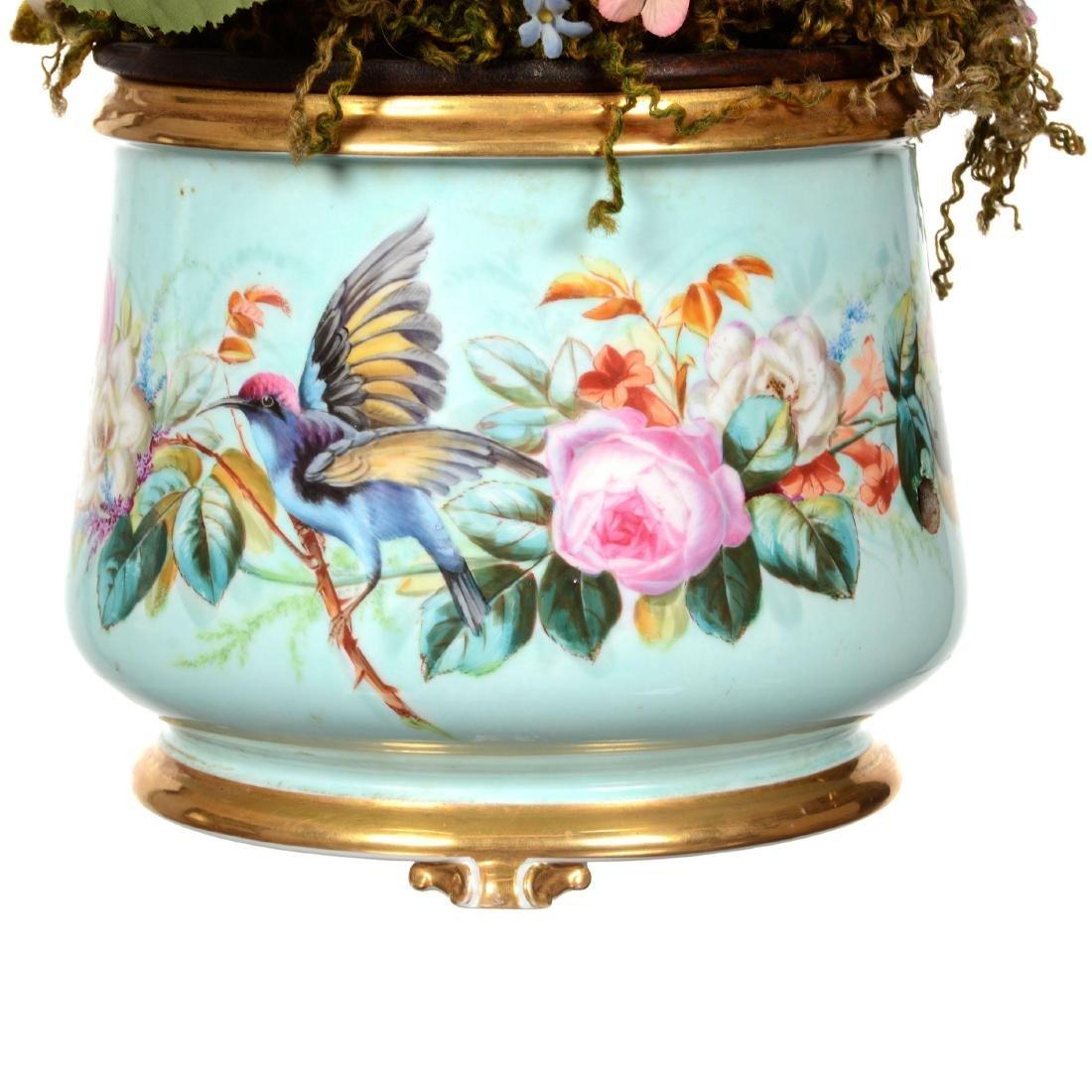 Extremely Rare Old Paris Porcelain Mechanical Ferner - 2