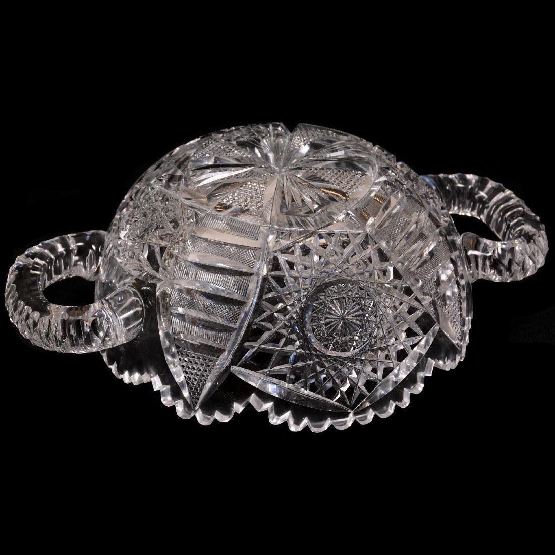 American Brilliant Cut Glass Bowl - 2