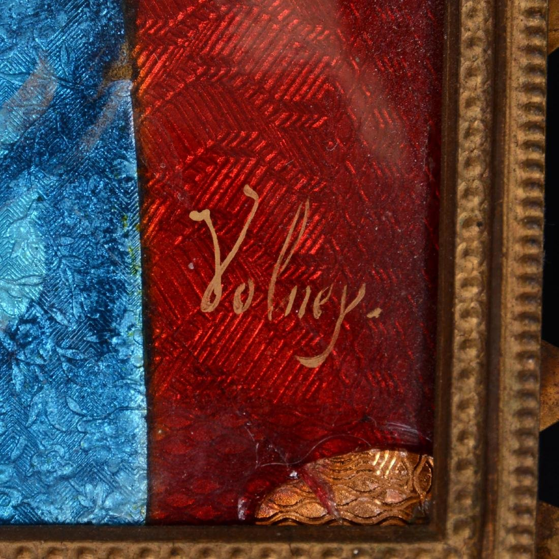 French Enamel on Copper Plaque - 2