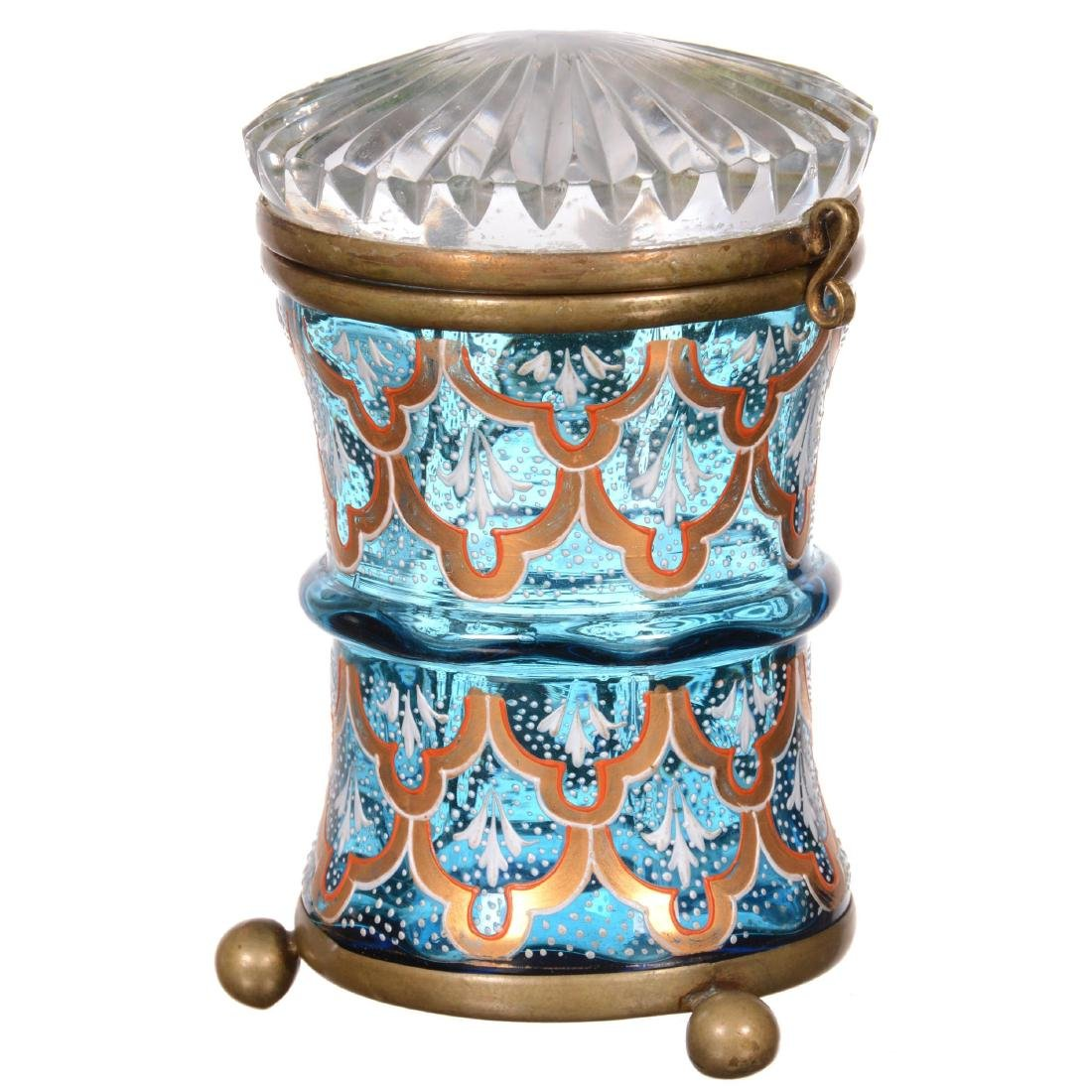 Art Glass Moser Style Jewel Box