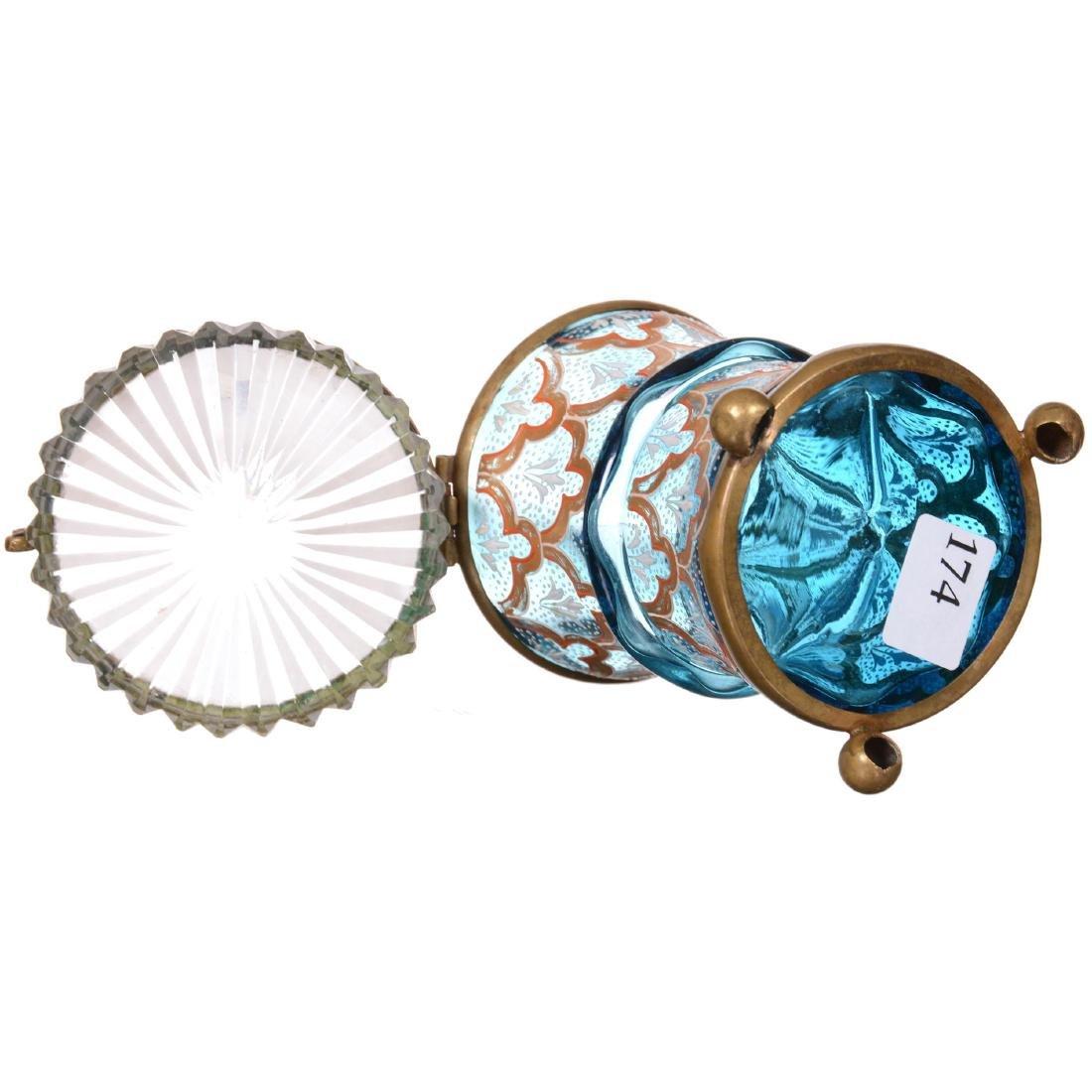 Art Glass Moser Style Jewel Box - 2
