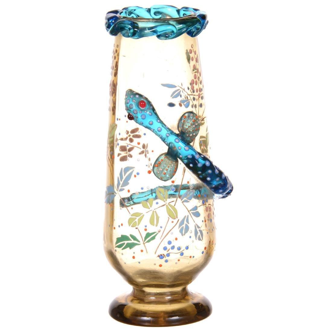 Unmarked Moser Art Glass Vase