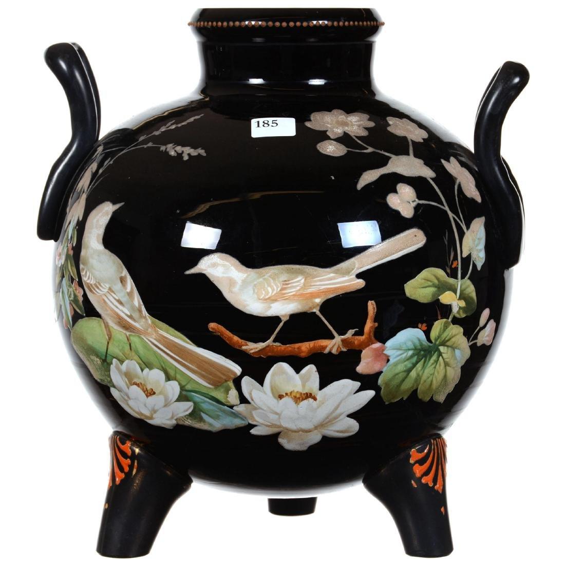 Black Amethyst Art Glass Vase