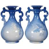 Pair Roseville Rozane Art Pottery Vases