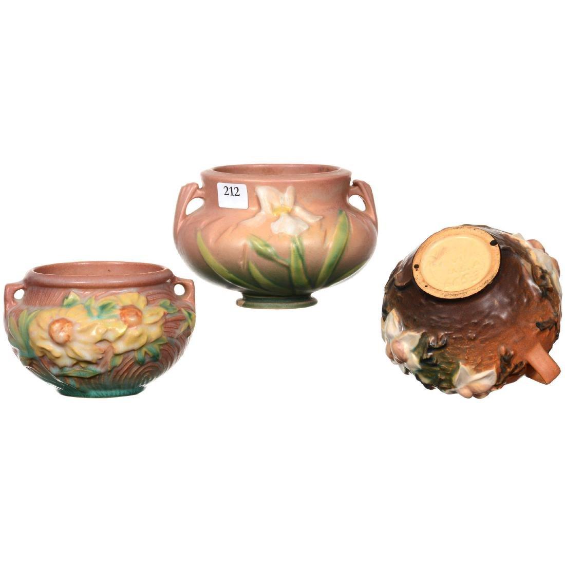 (3) Roseville Art Pottery Bowls - 2