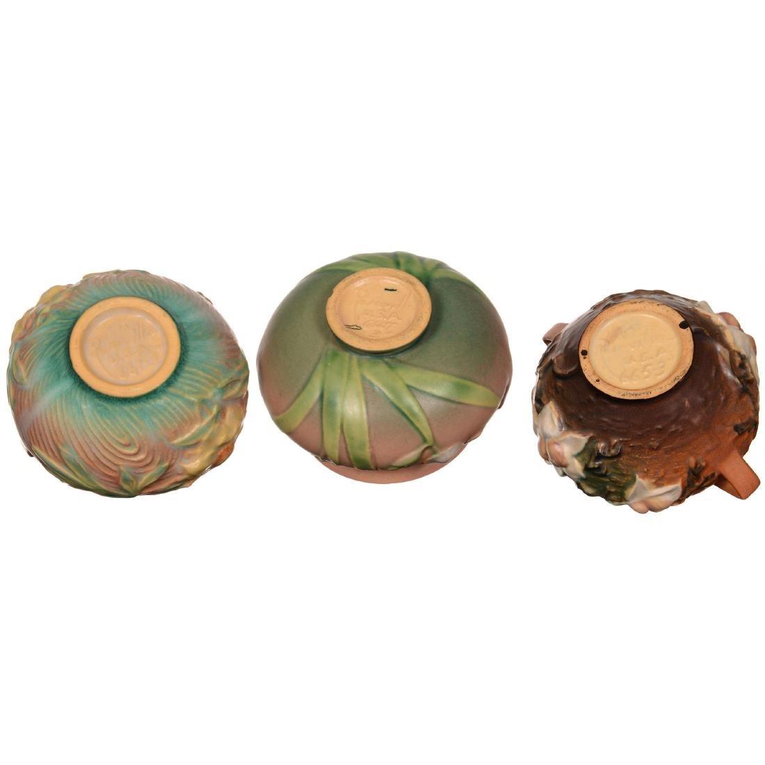 (3) Roseville Art Pottery Bowls - 3