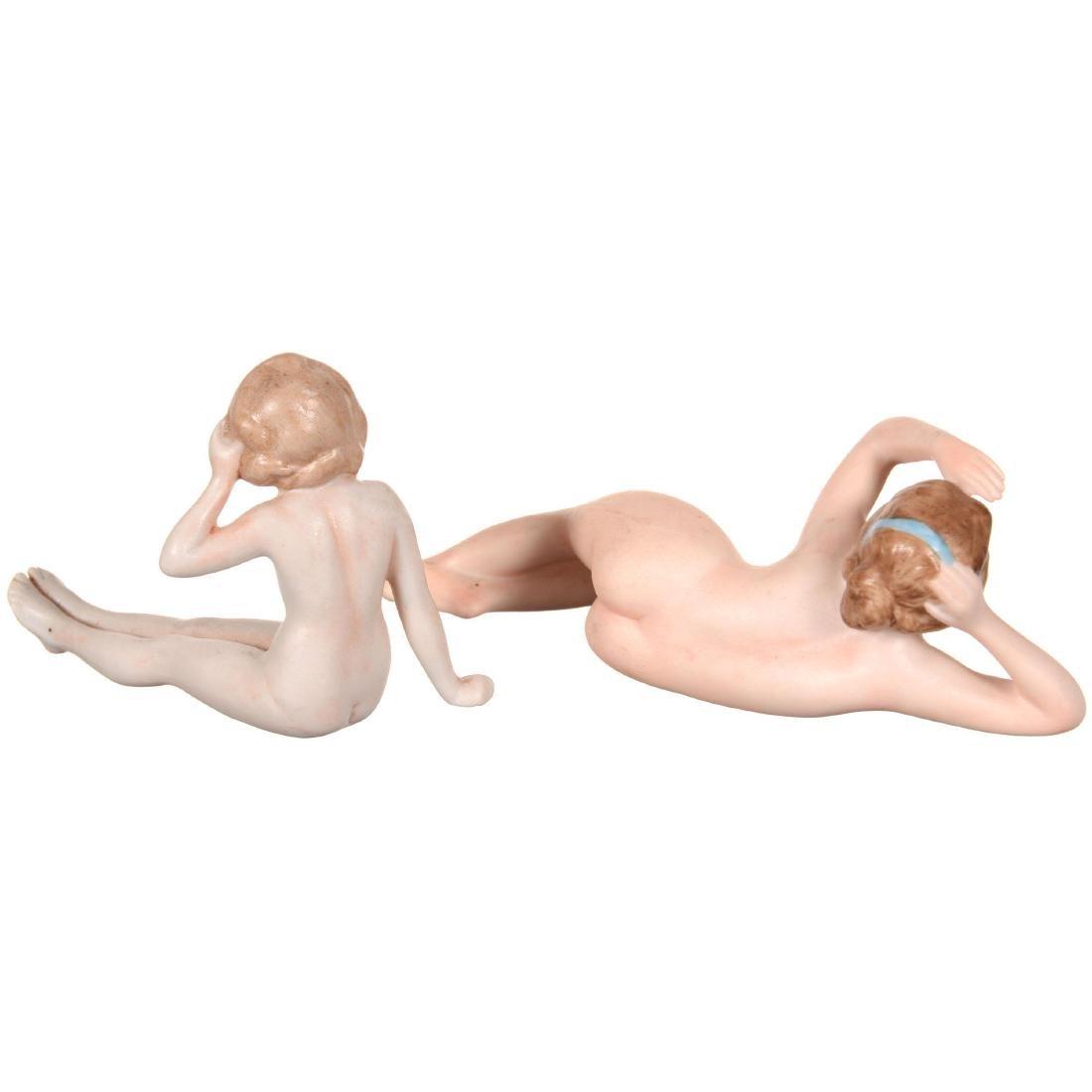 (2) German Bisque Nude Bathing Beauties - 2