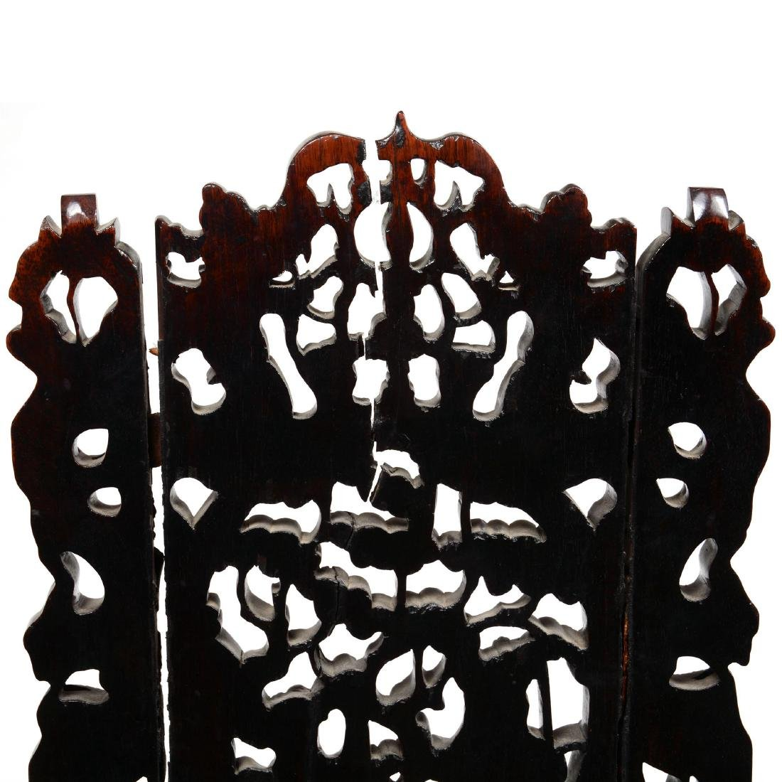 Antique Carved Teakwood Chair - 4