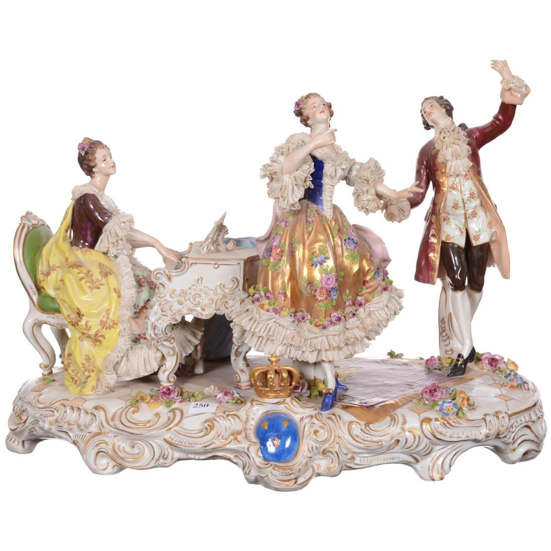 Large Meissen/Dresden (AR Mark) Figural Group
