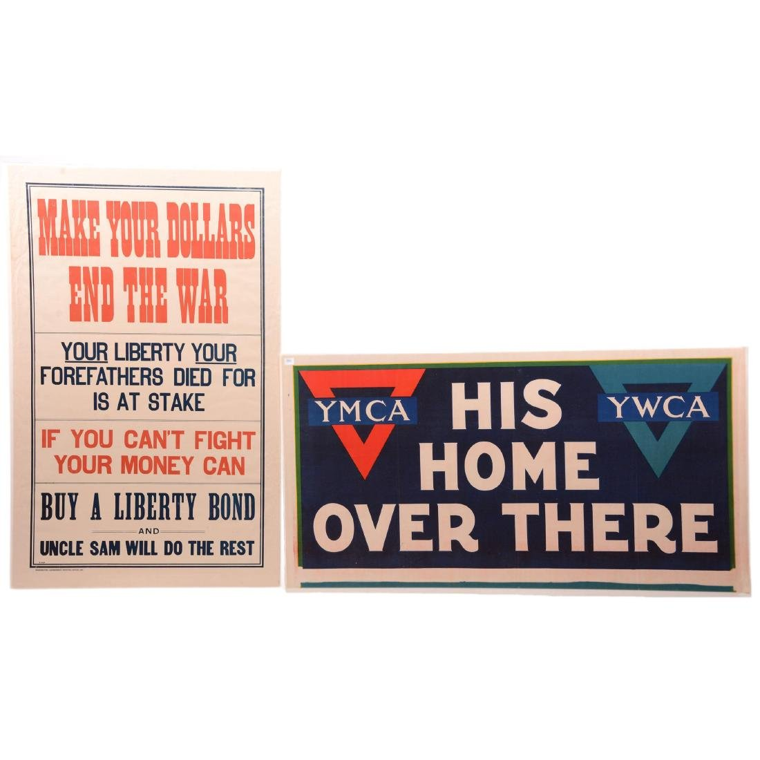 Two Vintage World War I Propaganda Posters