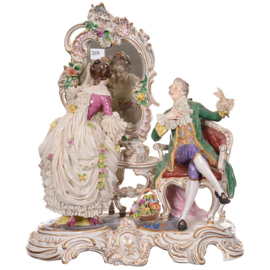 Meissen/Dresden (AR Mark) Figural Group