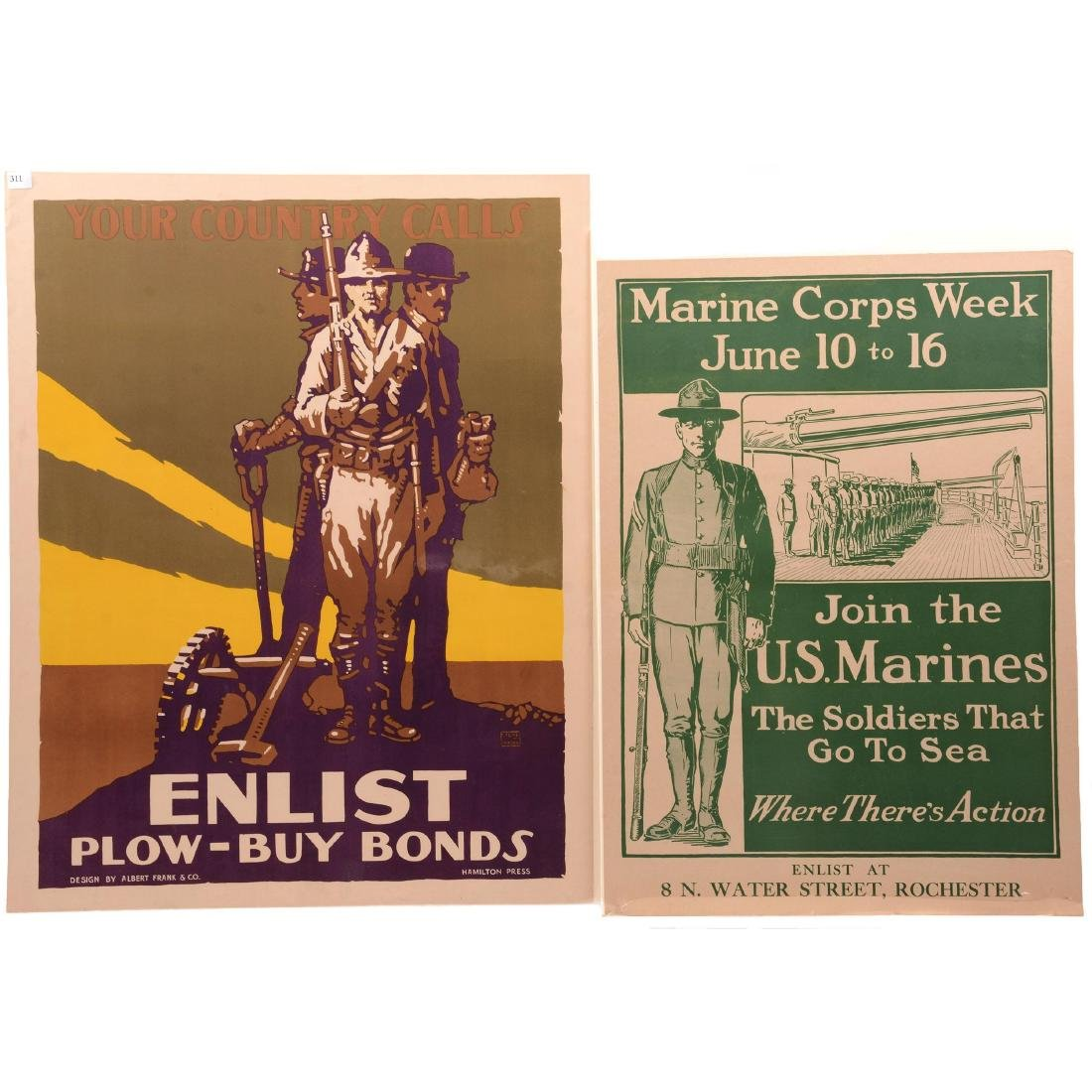 Two Vintage World War I Propaganda Posters