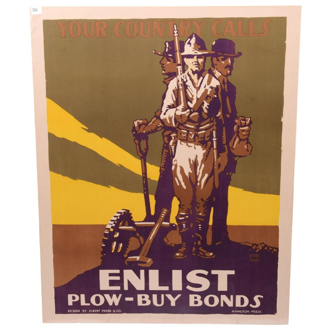 Two Vintage World War I Propaganda Posters - 2