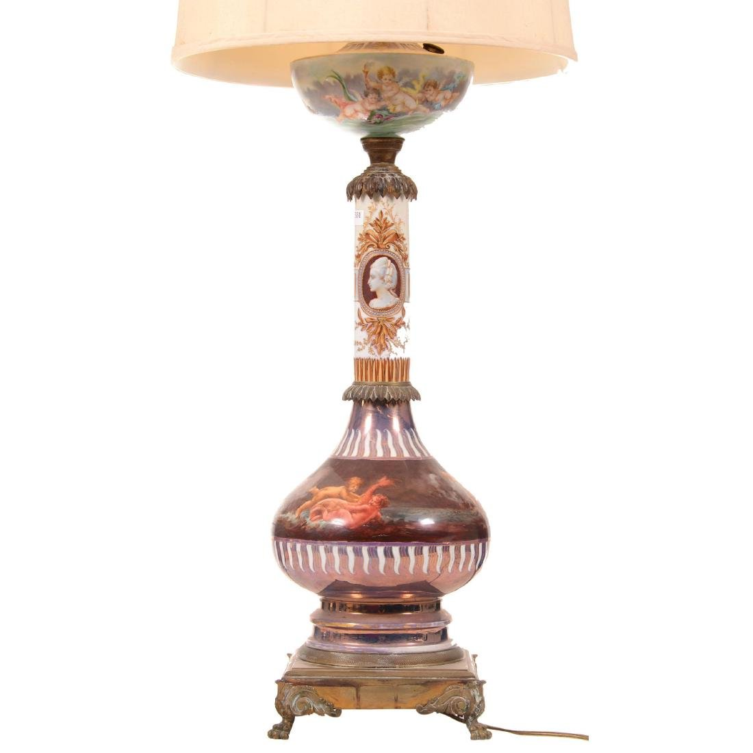 Sevres Style Table Lamp