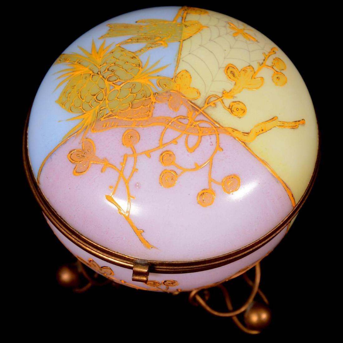 Art Glass Hinged Jewel Box - 2