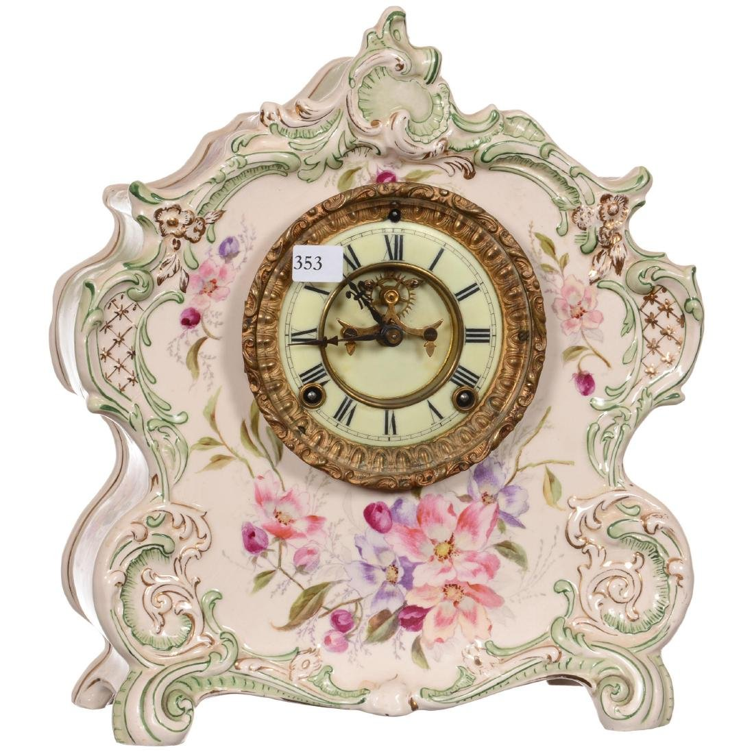Royal Bonn China Mantel Clock
