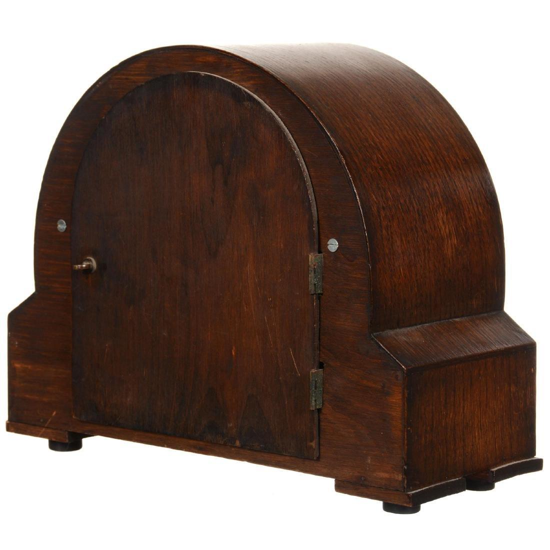 Oak Round Top Mantel Clock - 2
