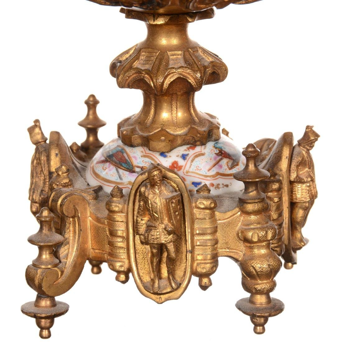 Early French Sevres Three Piece Ormolu Clock Set - 6