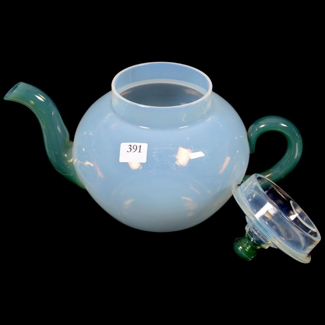 Seven Piece Fry Fovel Art Glass Tea Set - 2