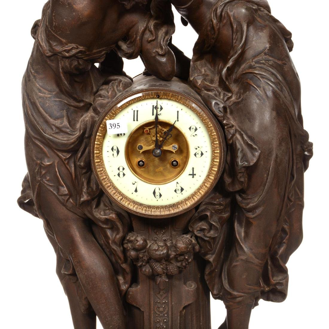 French Statue Clock - 3