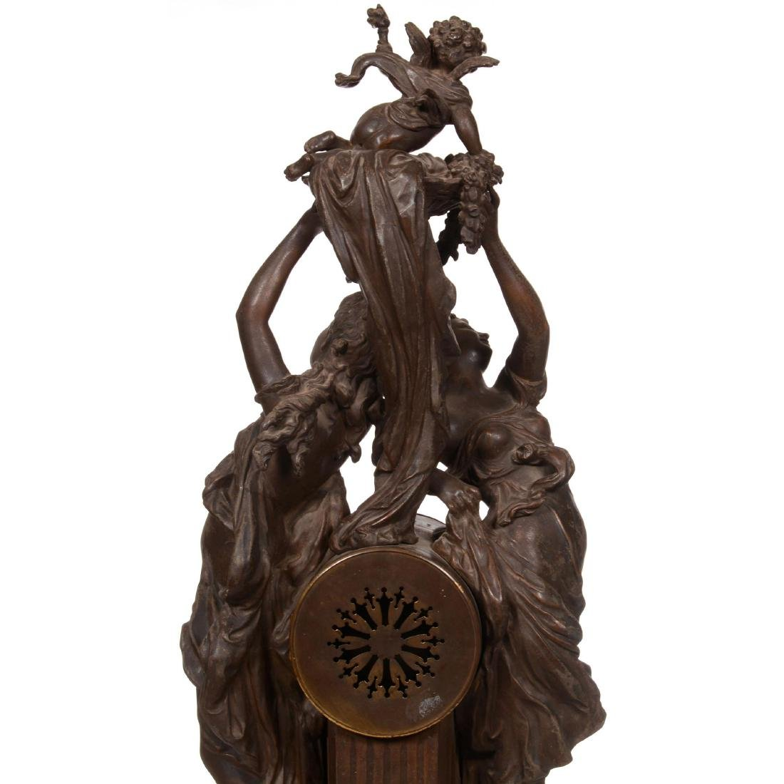 French Statue Clock - 5