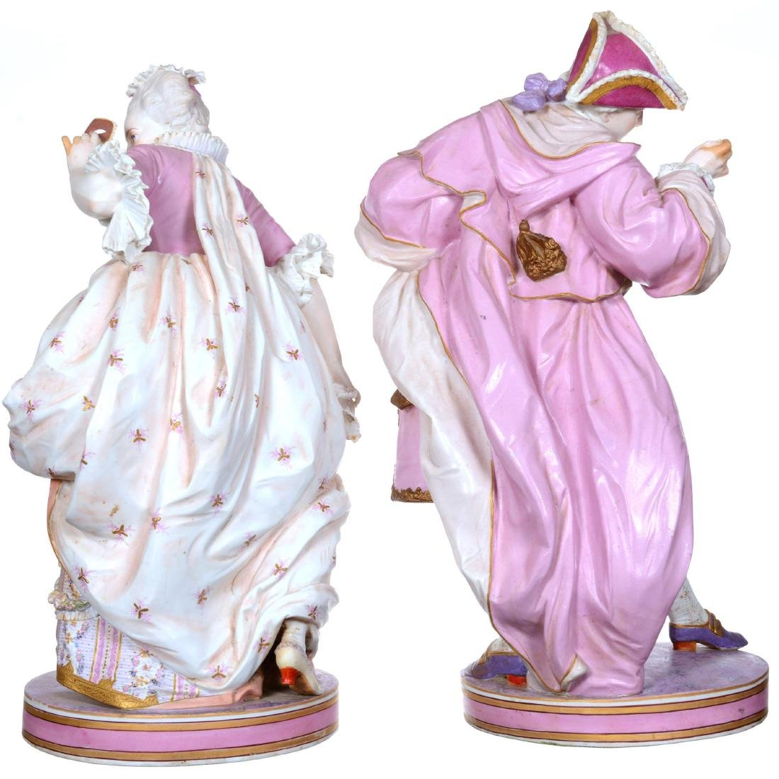 Pair of Large French Bisque Figures - 3