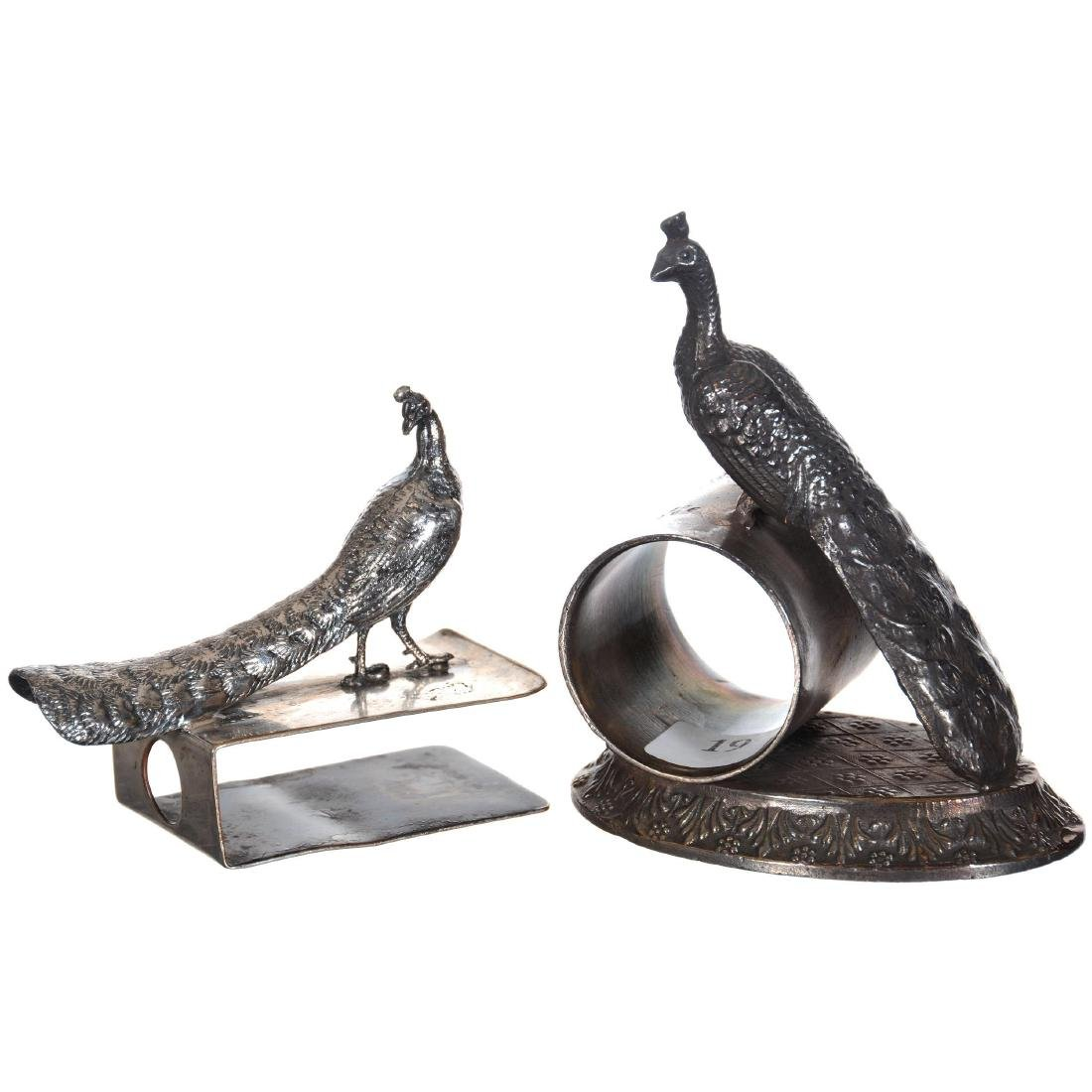 Two Figural Silver-plate Items