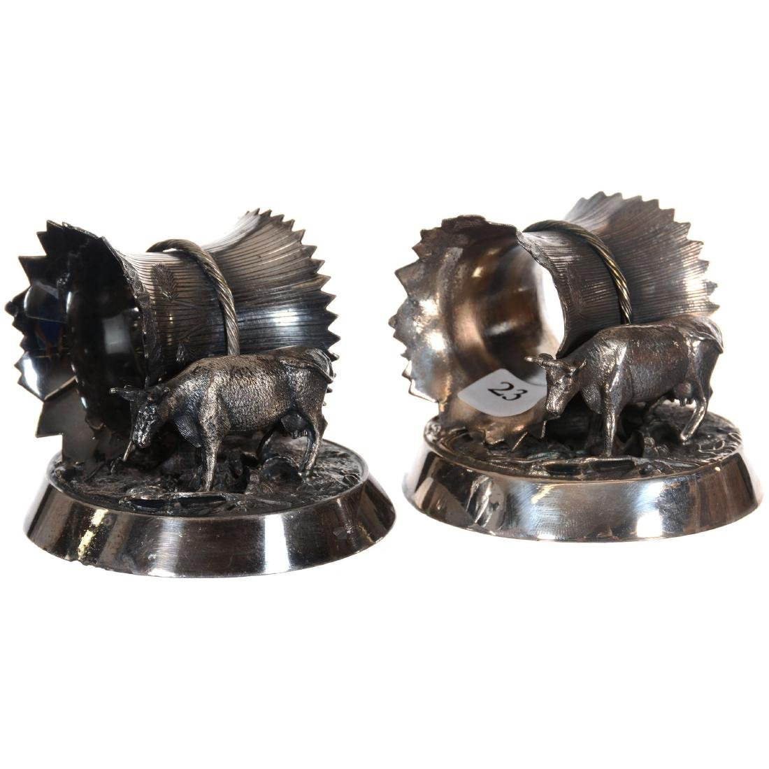 Two Matching Silver-plate Napkin Rings