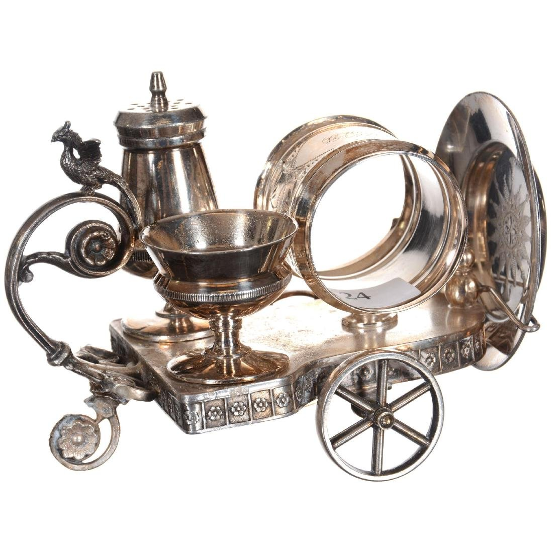 Silver-plate Condiment Set