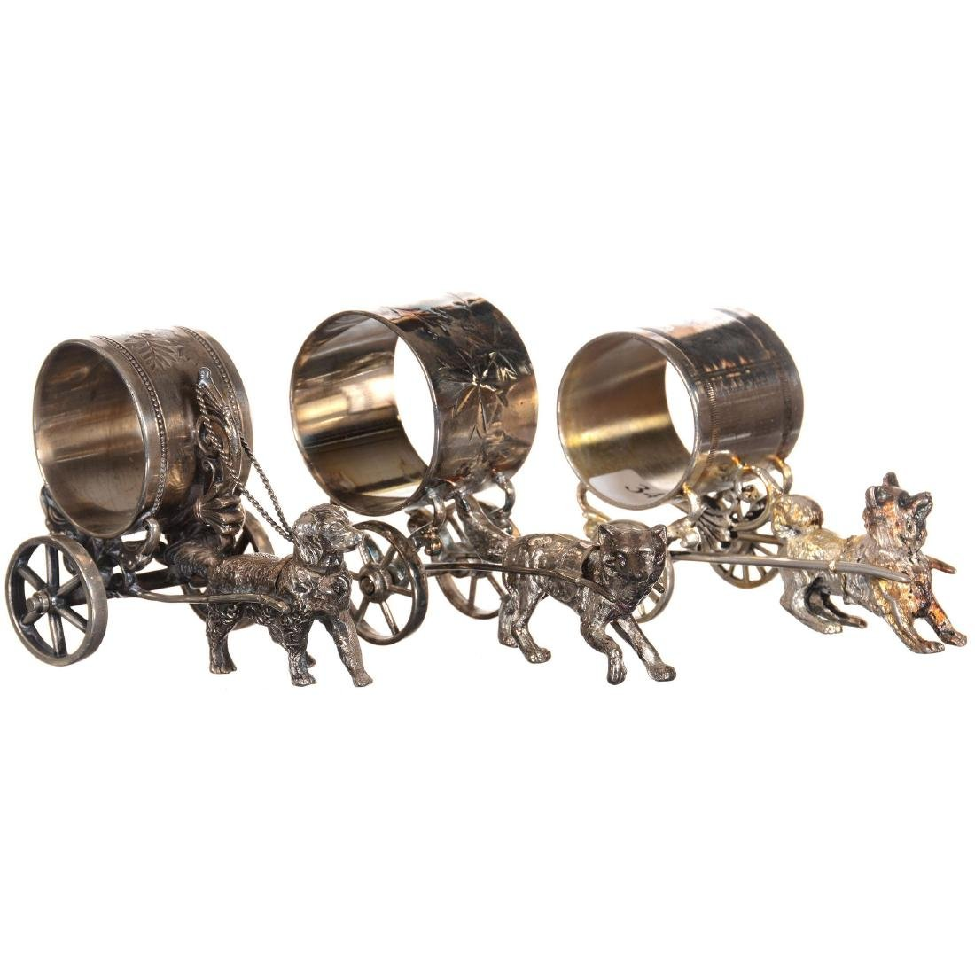 Three Silver-plate Napkin Rings